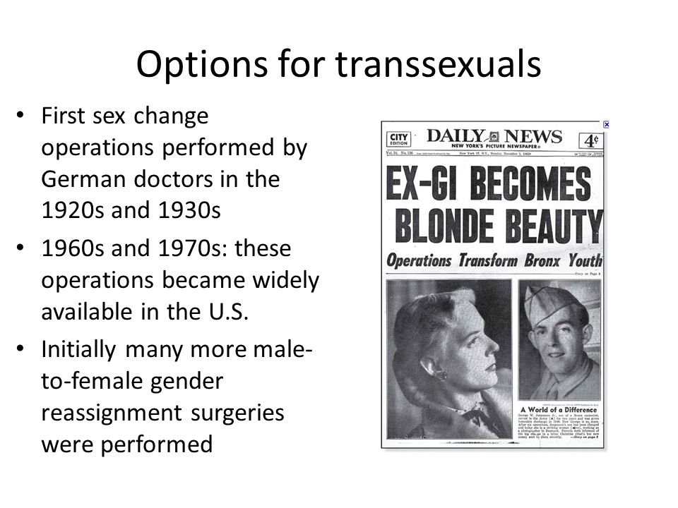 Options for transsexuals