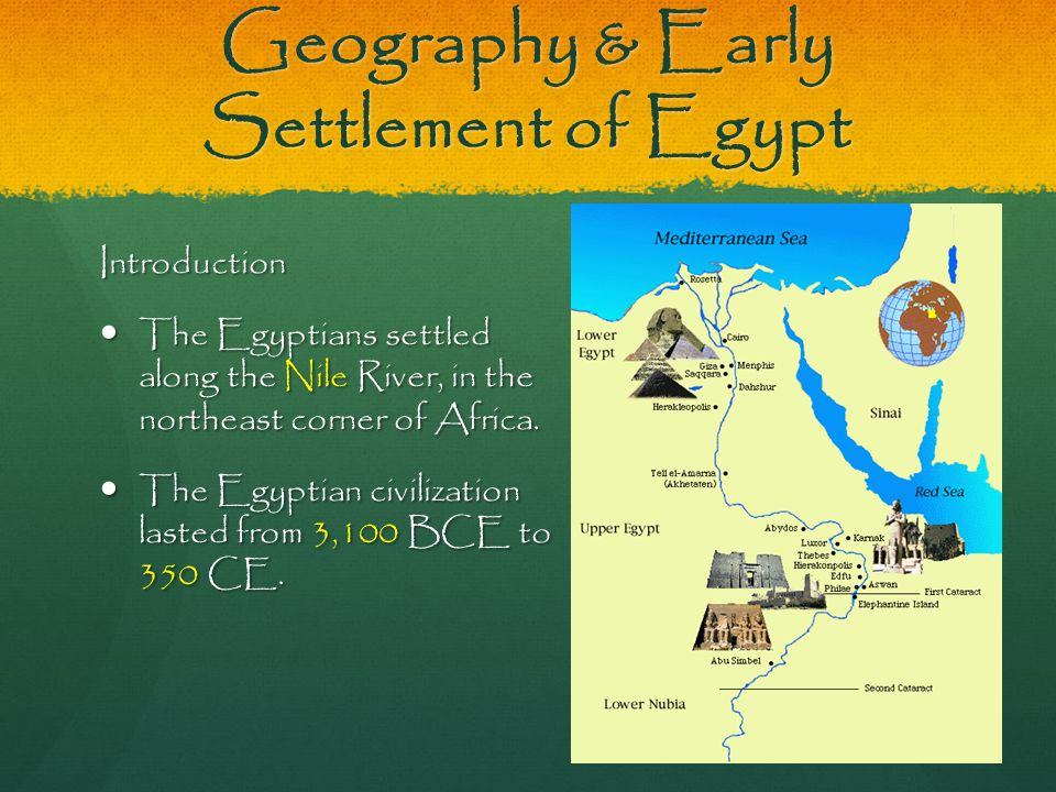 Geography & Early Settlement of Egypt