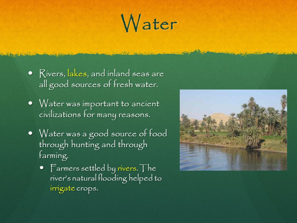 Sources of Water in Ancient Mesopotamia