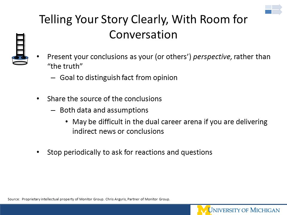 Telling Your Story Clearly, With Room for Conversation