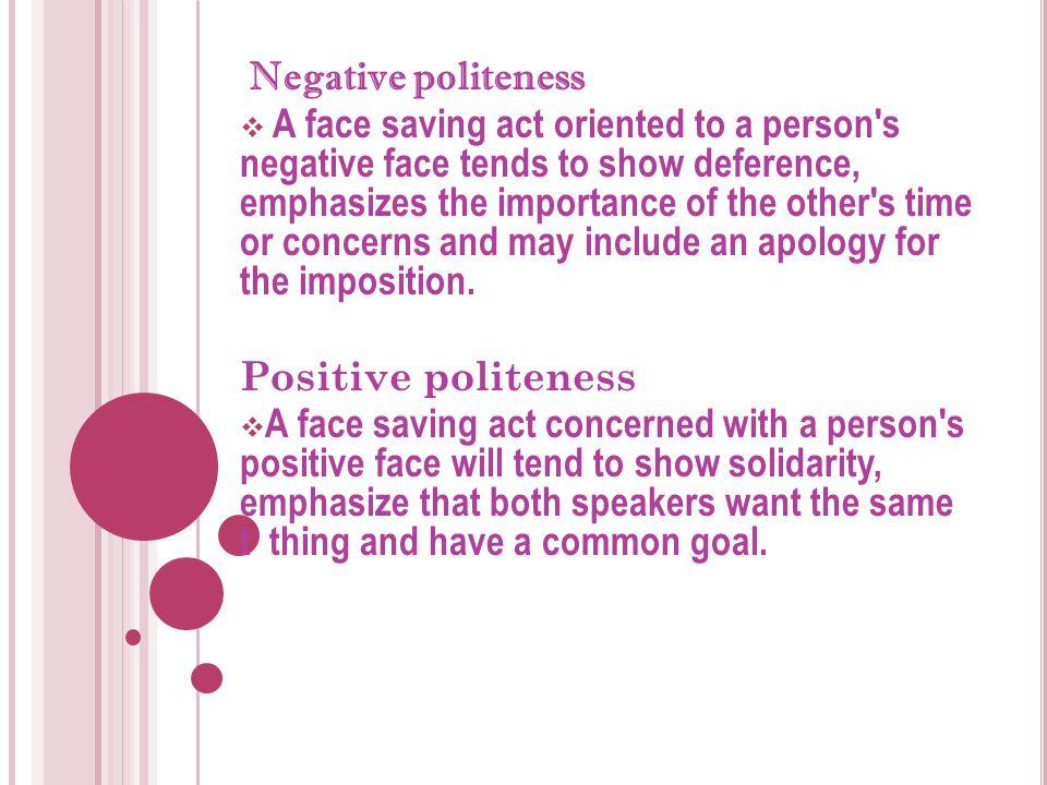Negative politeness