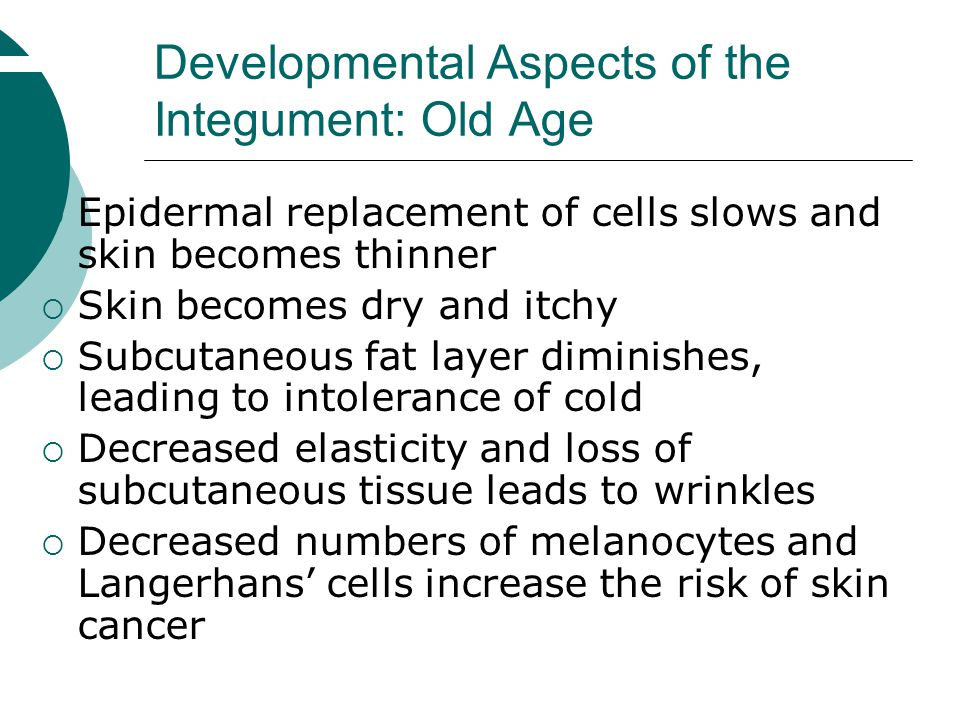 Developmental Aspects of the Integument: Old Age
