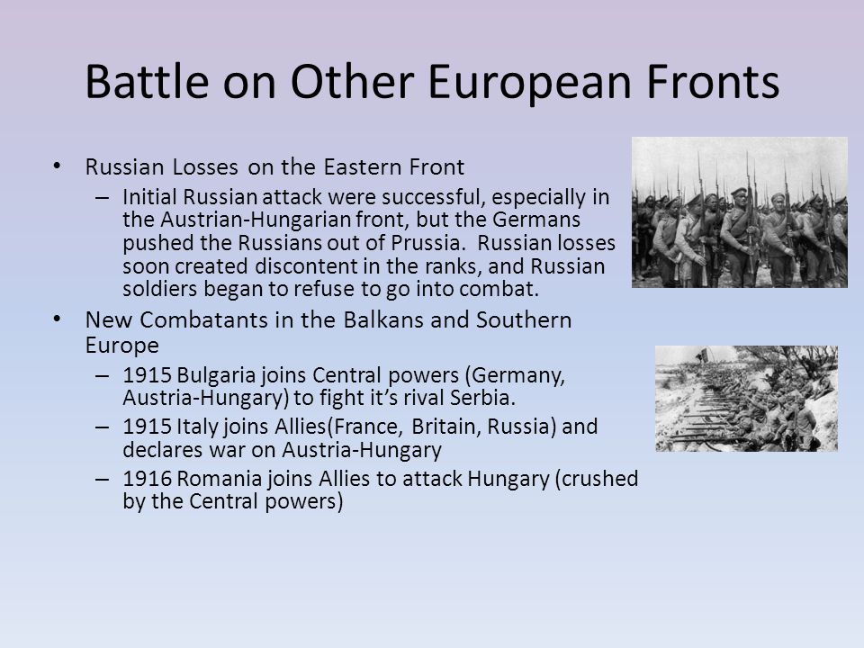 Battle on Other European Fronts