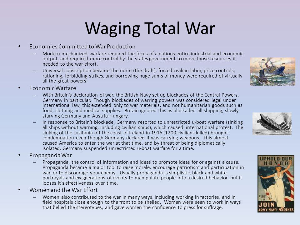 Waging Total War Economies Committed to War Production