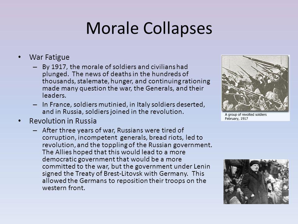Morale Collapses War Fatigue Revolution in Russia