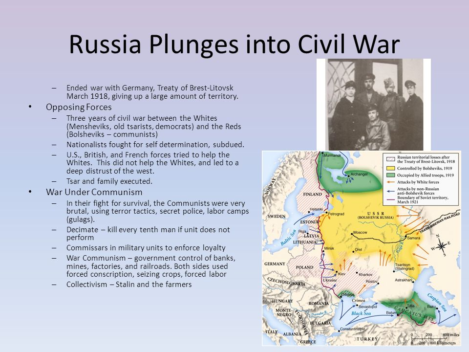 Russia Plunges into Civil War