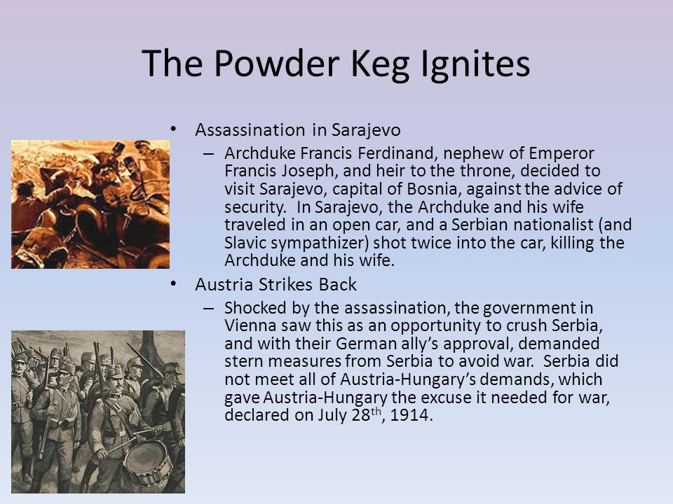 The Powder Keg Ignites Assassination in Sarajevo Austria Strikes Back