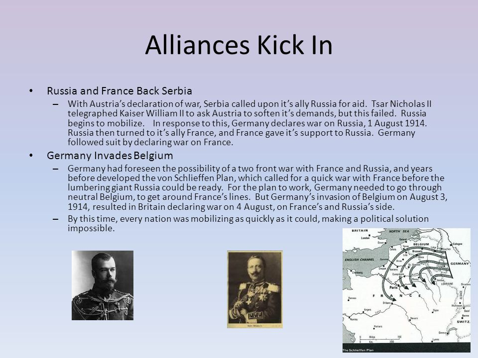 Alliances Kick In Russia and France Back Serbia