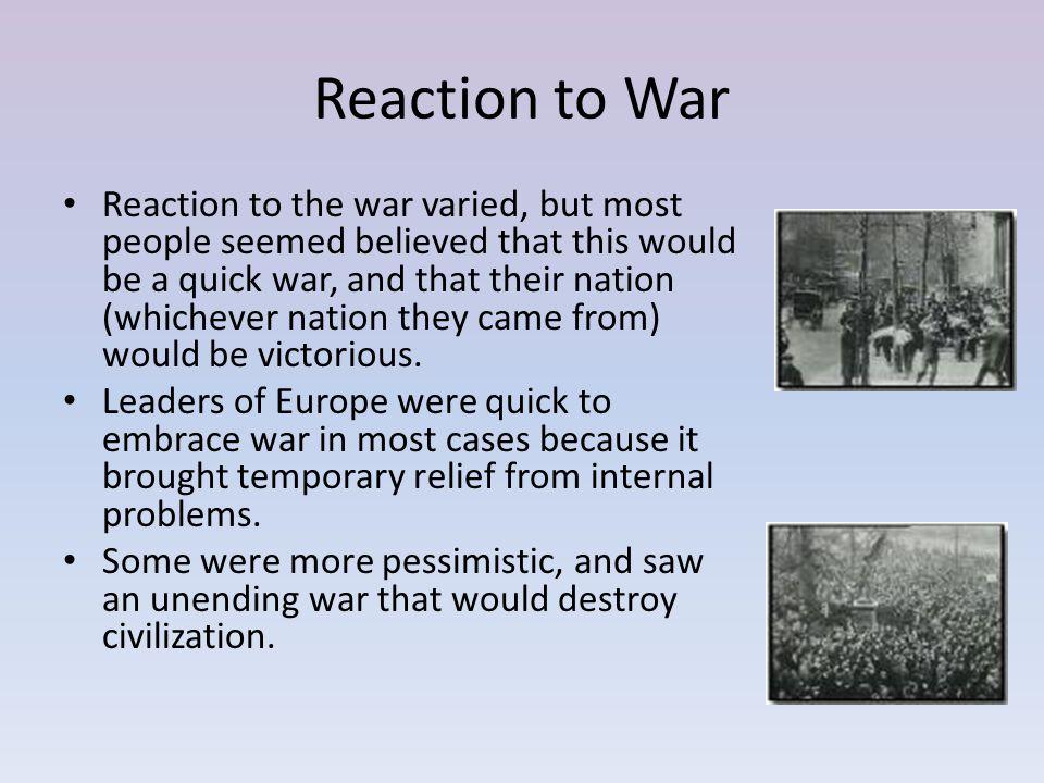 Reaction to War