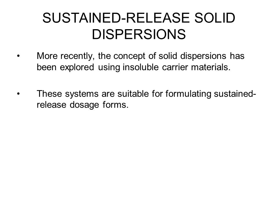 SUSTAINED-RELEASE SOLID DISPERSIONS
