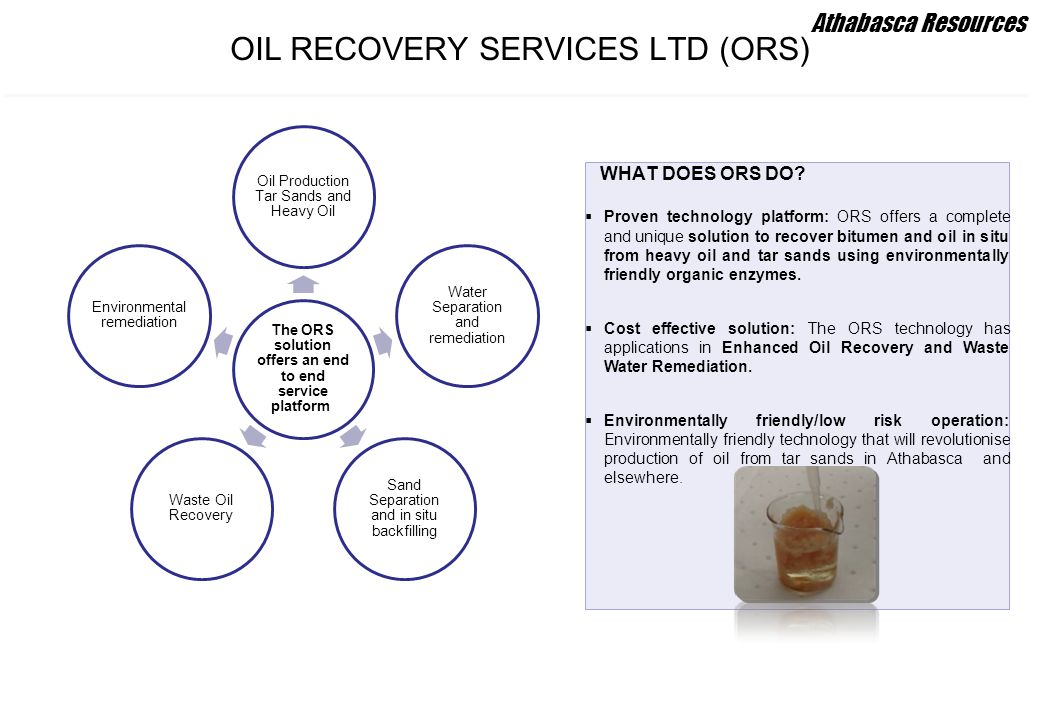 OIL RECOVERY SERVICES LTD (ORS)