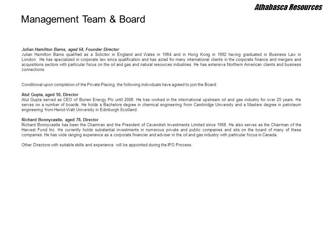 Management Team & Board