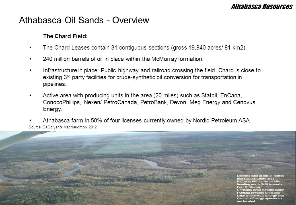 Athabasca Oil Sands - Overview