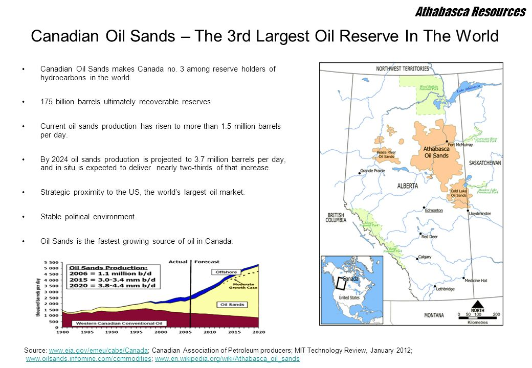Canadian Oil Sands – The 3rd Largest Oil Reserve In The World
