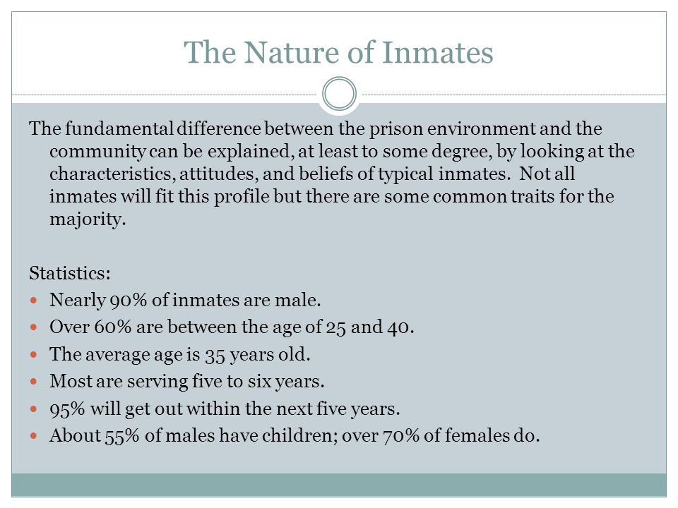 The Nature of Inmates