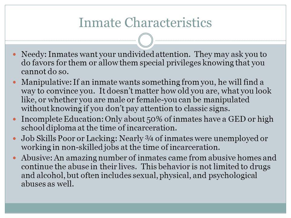 Inmate Characteristics