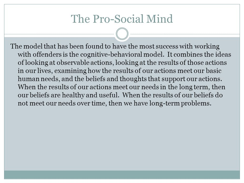 The Pro-Social Mind