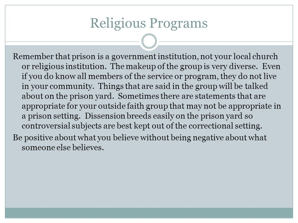 Religious Programs