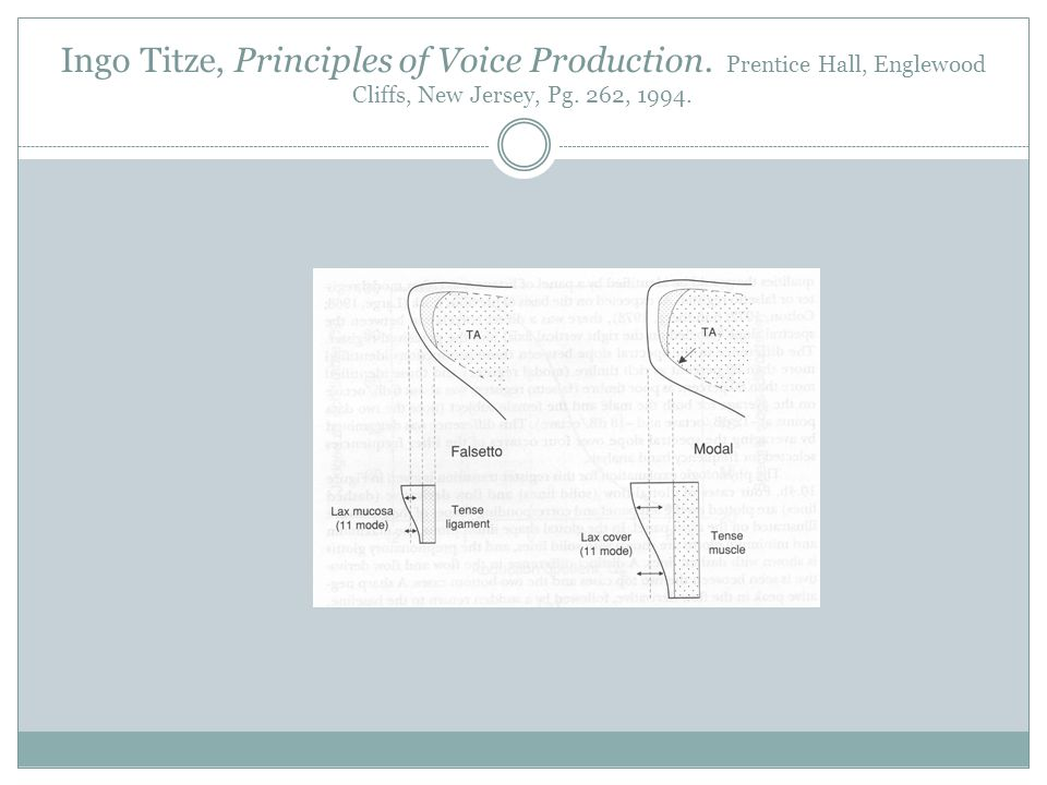 Ingo Titze, Principles of Voice Production