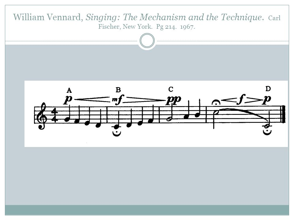 William Vennard, Singing: The Mechanism and the Technique