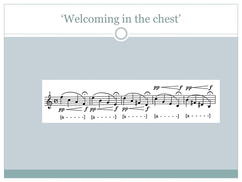 'Welcoming in the chest'