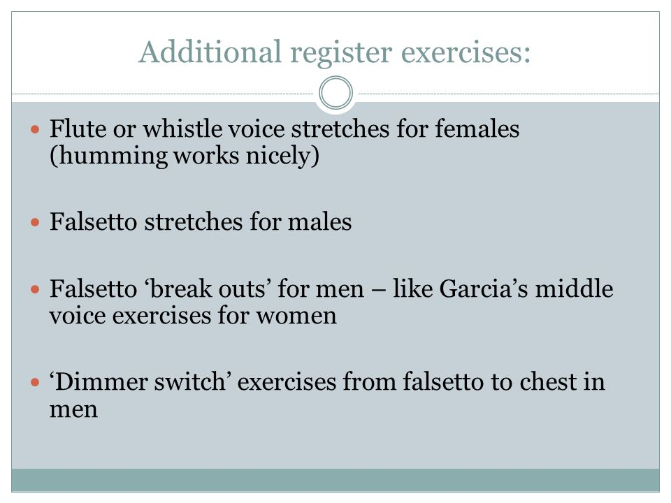 Additional register exercises: