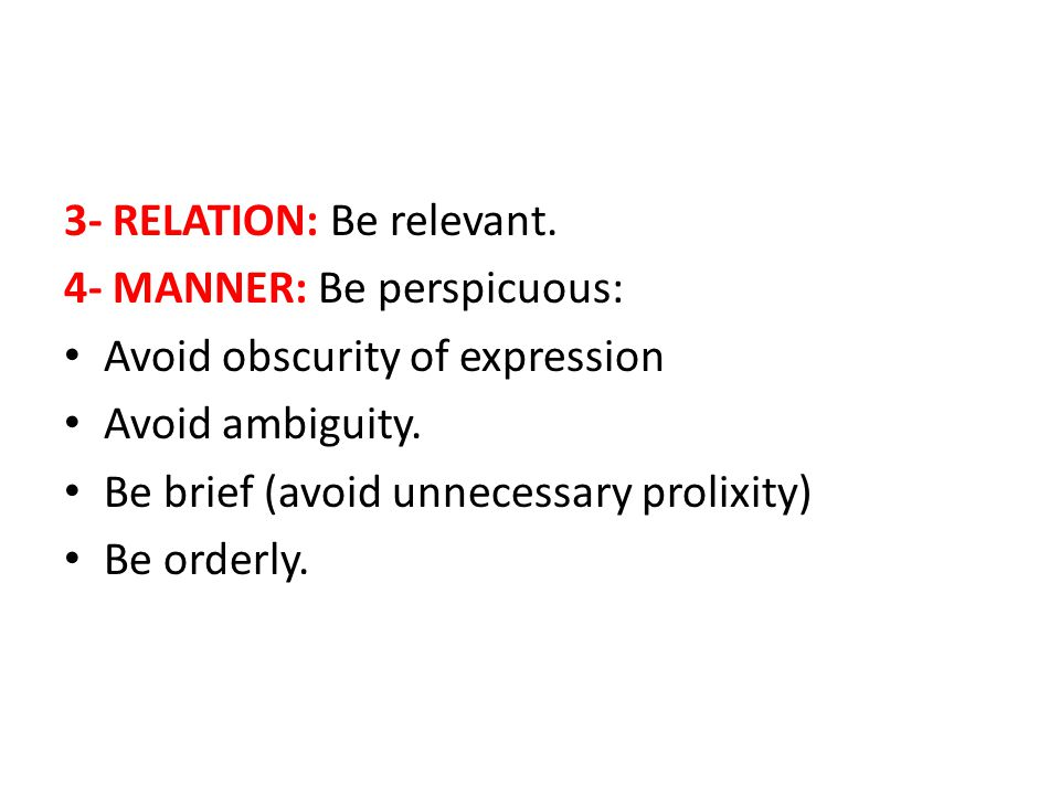 3- RELATION: Be relevant.
