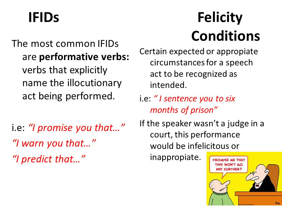 IFIDs Felicity Conditions