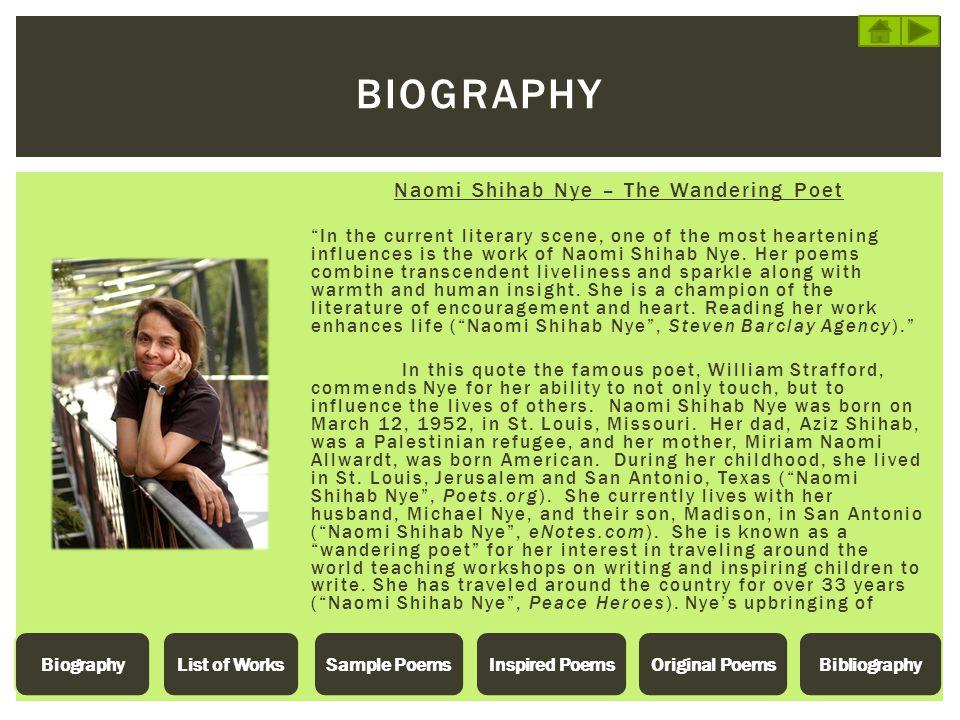 Naomi Shihab Nye – The Wandering Poet