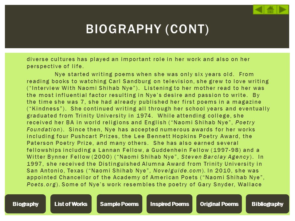 Biography (Cont)