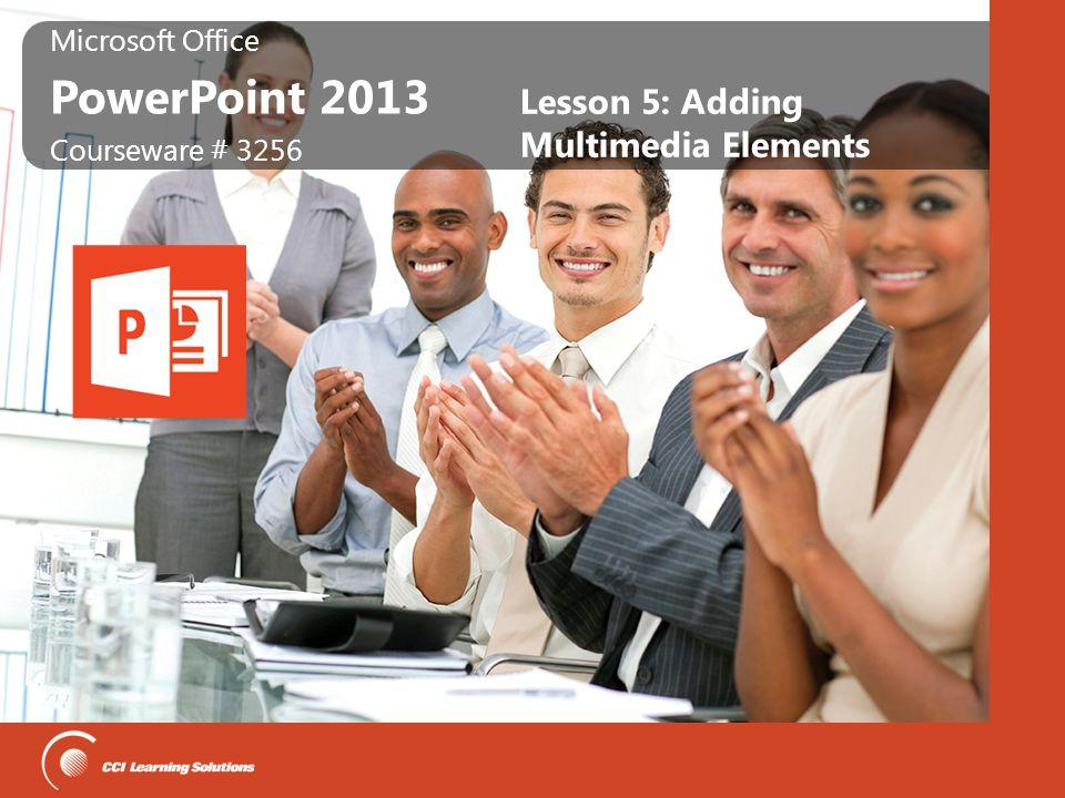 Lesson 5: Adding Multimedia Elements