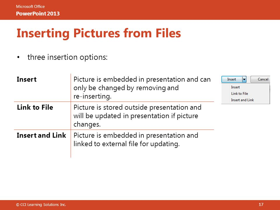 Inserting Pictures from Files
