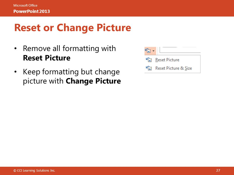 Reset or Change Picture