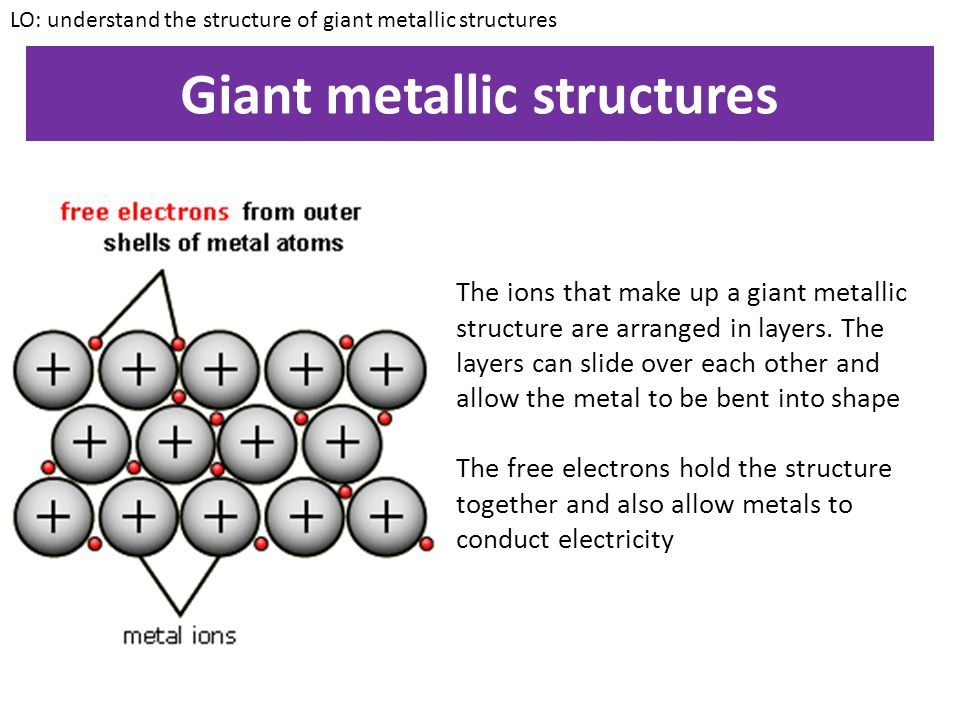 Giant metallic structures
