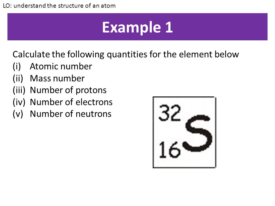 Example 1 Calculate the following quantities for the element below