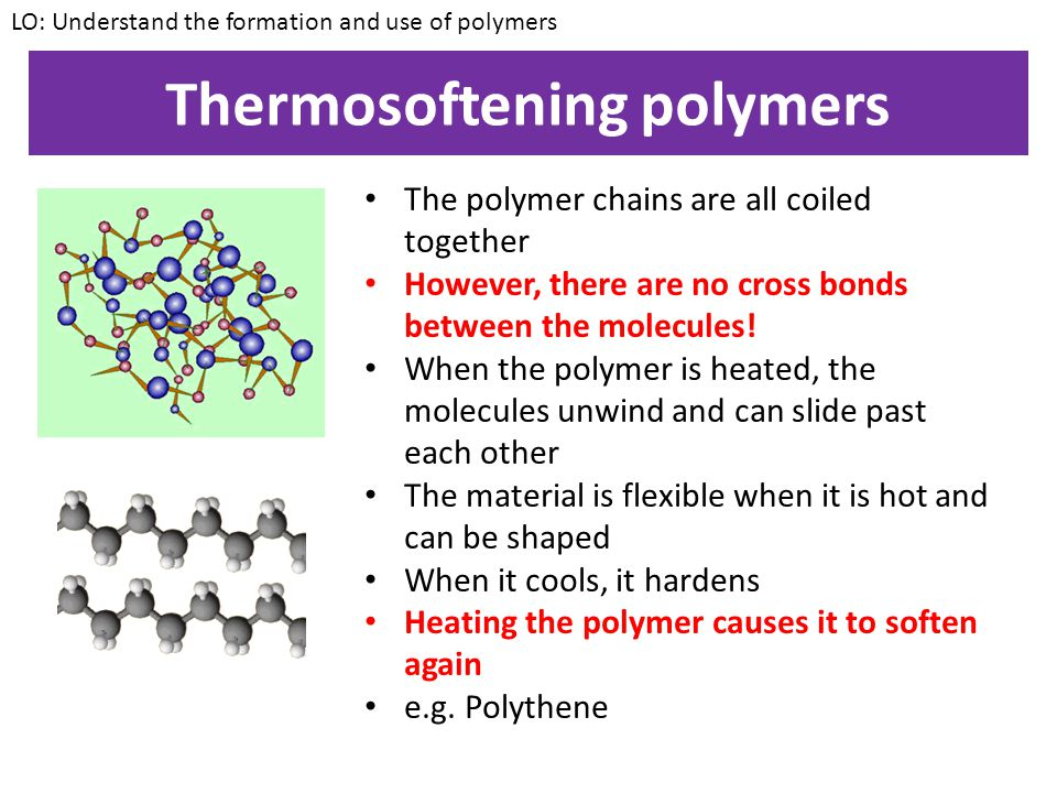 Thermosoftening polymers