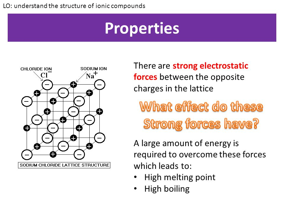 Properties What effect do these Strong forces have