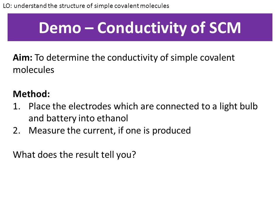 Demo – Conductivity of SCM