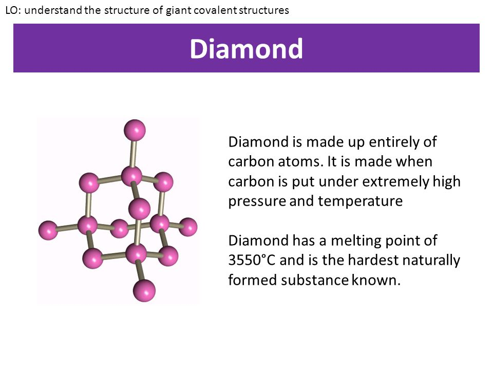 LO: understand the structure of giant covalent structures