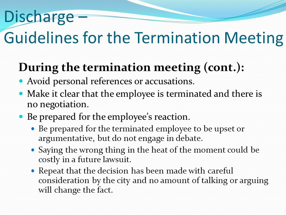 Employee Termination Guide Termination Form Instructions