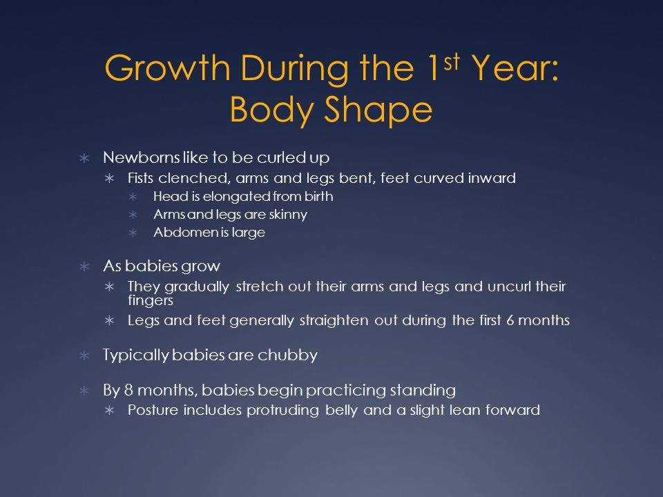 Growth During the 1st Year: Body Shape