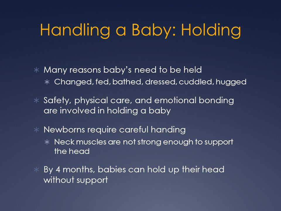 Handling a Baby: Holding