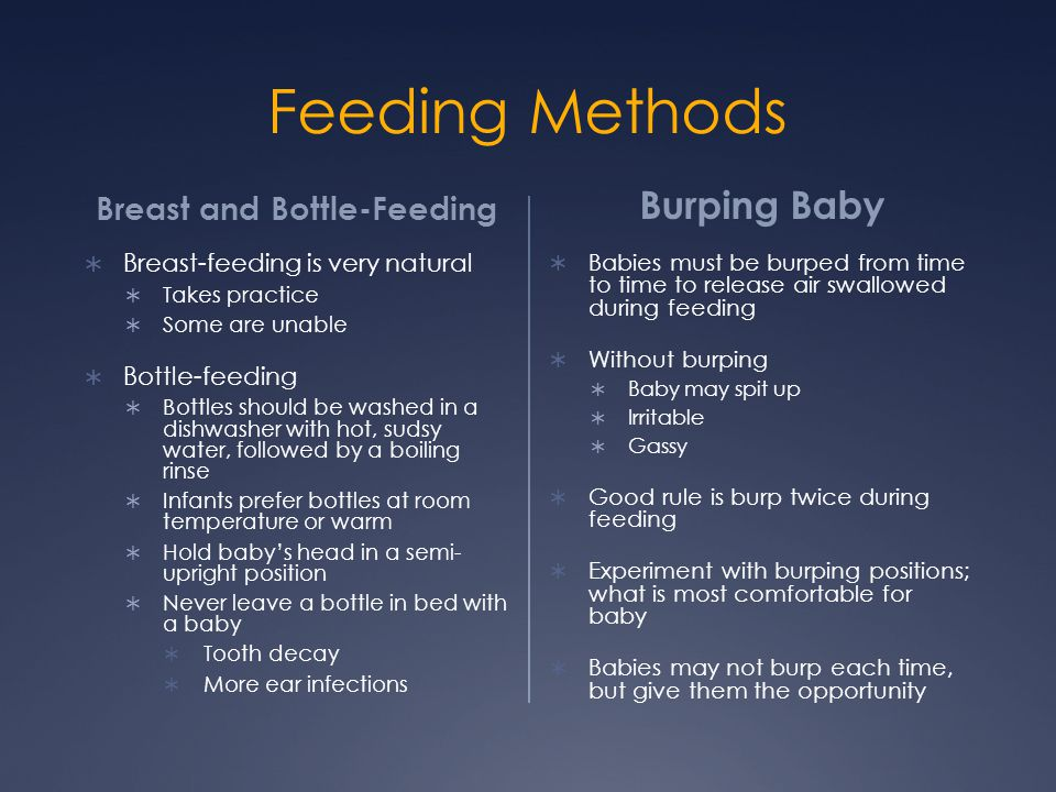 Breast and Bottle-Feeding