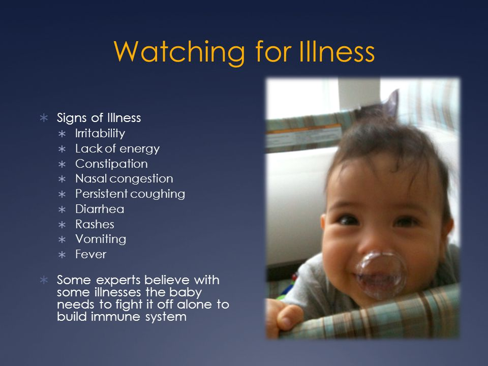 Watching for Illness Signs of Illness
