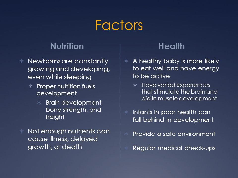 Factors Nutrition Health