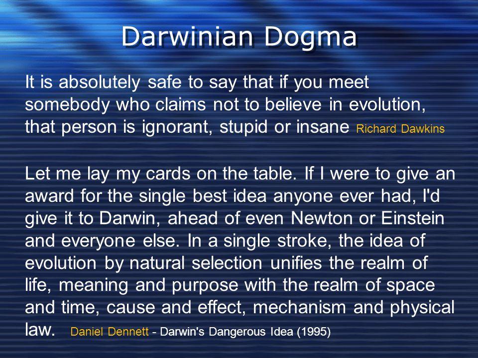 Darwinian Dogma