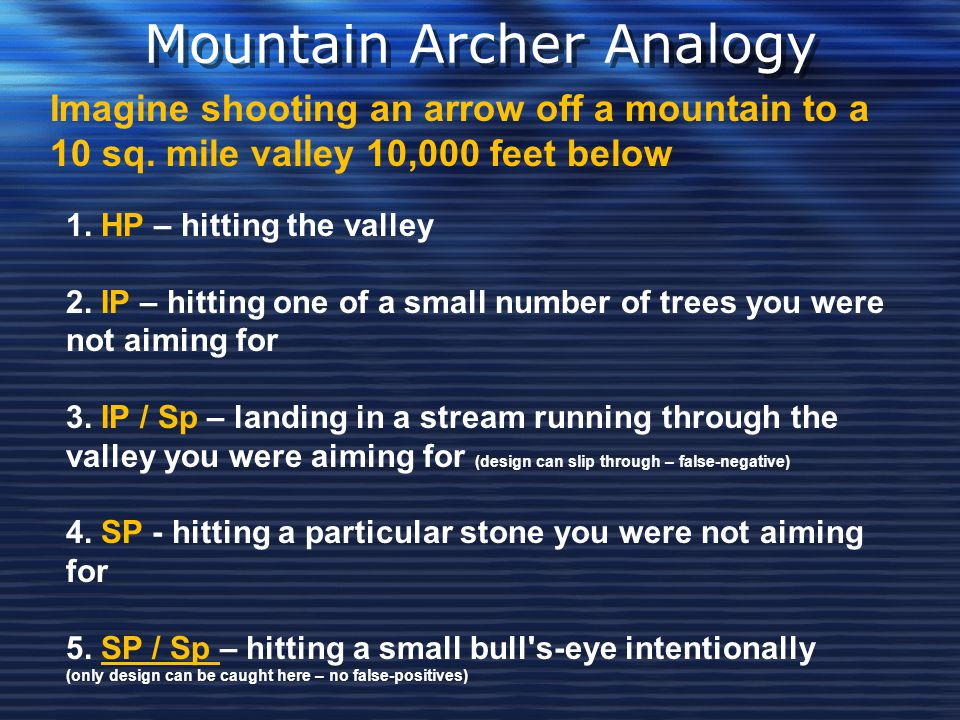 Mountain Archer Analogy
