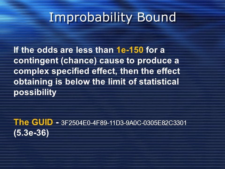 Improbability Bound