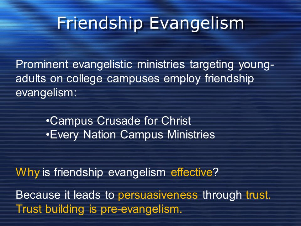 Friendship Evangelism