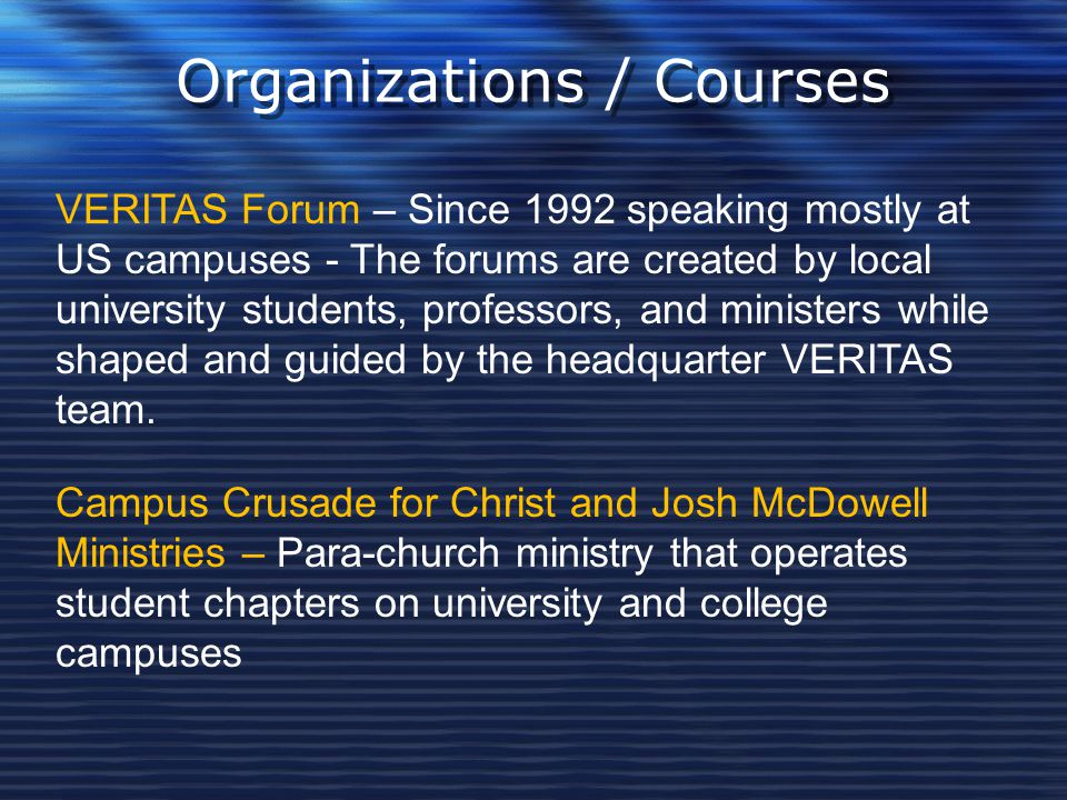 Organizations / Courses